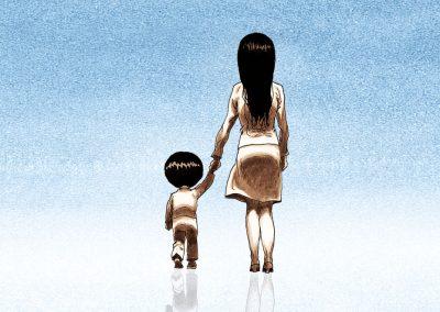 Single Mom in Korea